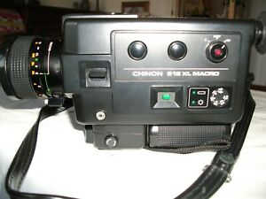 Vintage Chinon 612 XL Macro cine camera and bag - working