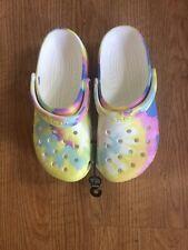 Pastel Tie Dye Crocs Clogs Shoes Womens Size 9  New