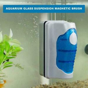 Magnetische Pinsel Aquarium Glas Algen Scraper Reiniger Pinsel Sauber Wipe E1T1