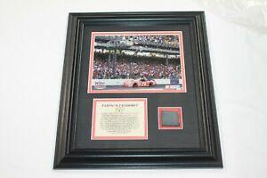 Tony Stewart #20 Tire Piece/Photo Allstate 400 Brickyard Limited Ed. w/COA Mount