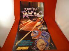 Rock 'n Roll Racing Super Nintendo SNES Nintendo Power Foldable Promo Poster