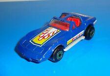 Matchbox Mid 1980s Chevrolet Corvette T-Top Blue w/ Gray Macau Base