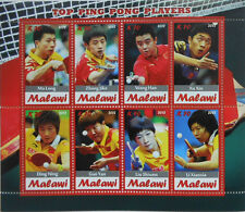 Top Ping Pong Players table tennis China  m/s Malawi 2012 MNH  #H072