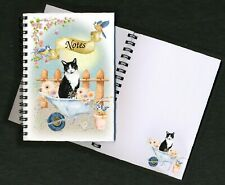 """Cat Notebook/Notepad, (6"""" x 4"""") Design No. 4 with small image on every page"""