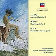 Pierre Monteux /Clau - Bach/Gluck/Mozart: Music for Flute & Orchestra [New CD]