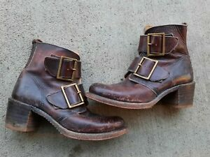 Frye Vintage Brown leather Boots Size 7.5M