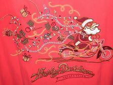 Harley Davidson Tori Richard Embroidered Santa Claus Breakaway Womens Size L