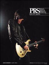 David Grissom 1991 Austin City Limits PRS DGT guitar ad 8 x 11 advertisement
