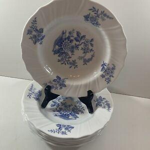 """6 x Spode Copeland China England  Blue Sprays 8"""" Soup/Dessert/Salad Plate"""