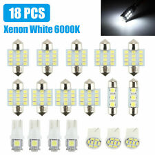 18PCS White LED Interior License Light Package Kit For Chevy Silverado 1999-2006