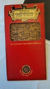 The Olde Map Company 'STAFFORDSHIRE 1610' An Antiqued Parchment Replica