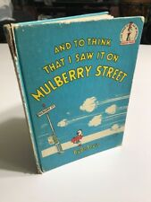 VINTAGE 'AND TO THINK THAT I SAW IT ON MULBERRY STREET' Dr Suess Book 1964 (B1)