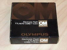 OLYMPUS OM TTL AUTO CORD T 0.3m FOR T POWER CONTROL T-20 T-32 T-45 NEW IN BOX