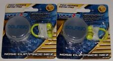 Swimming Diving Swim Nose Clip Plug Latex Strap Case 2 Sets / 2 Packages