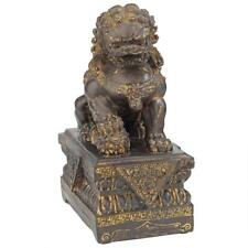 Asian Chinese Imperial Palace Guardian Male Lion Foo Dog Statue