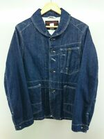 FILSON Authentic 100% Cotton Denim Jean Jacket Navy Size 38 Used from Japan