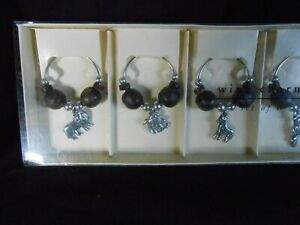 WINE CHARMS FOR GLASSES SET OF 6 AFRICAN ANIMALS PIER 1 IMPORTS