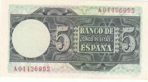 CRBS0104 BILLETE ESPAÑA 5 PESETAS 1948 EBC 10