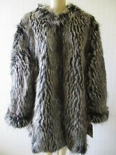 $229 LYRIC CULTURE BROWN & BLACK MIX LONG SLEEVE FAUX FUR COAT SIZE 3 X - NWT
