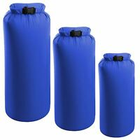 3 Pack Camping Dry Sacks Waterproof Weather Resistant Kayak Hiking Bag 2/4/8L