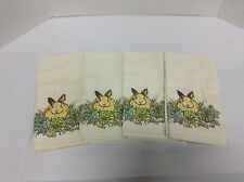 Pottery Barn Honey Bunny Easter Holiday Kitchen Dining Table Napkins Linen Set 4