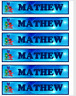 PJ MASKS PERSONALISED CHILDRENS BOOKMARKS LAMINATED X 6 PARTY/TEACHERS/PARENTS