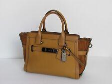 Coach Swagger 27 Light Saddle Leather Satchel Shoulder Handbag 59505