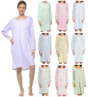 Casual Nights Women's Long Sleeve Lace Floral Nightgown