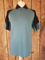 Mens Adidas Climacool Zip Polo Shirt Large Blue 40 Chest