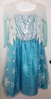 Frozen Princess Elsa Official Disney Store Costume Ice Blue Size 9 / 10