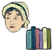 More details for 🇬🇧 jane austen enamel pins by the unemployed philosophers guild.