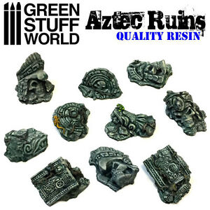 Aztec Ruins - Resin - Miniature Bases Aztecs Lizardmen Diorama Warhammer Jungle