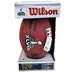 Official Super Bowl XLVIII Wilson The Duke NFL Game Football Seattle Seahawks