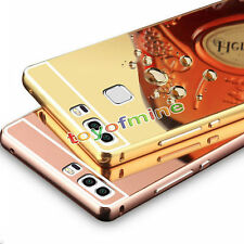 Luxury Ultra-thin Aluminum Metal Mirror Bumper Case Cover For Huawei P9 P8 Lite