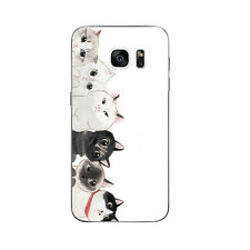 Cases For Samsung Galaxy S7 Soft TPU Silicone Protective Back Cover Cats Party