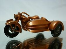 LESNEY - HARLEY DAVIDSON   MOTORCYCLE WITH SIDECAR NO= 66 - VERY GOOD CONDITION.