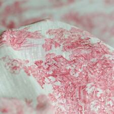 Lin Toile de Jouy impression rouge sur écru French Fabric