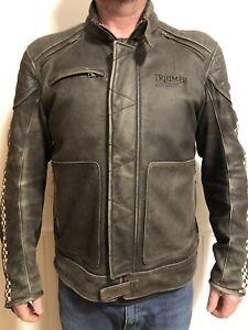 Triumph leather motorcycle jacket men's size XL