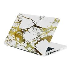 "13-Inch Pro White/Gold Marble Matte Hard Case for Macbook Pro 13"" Model: A1278"