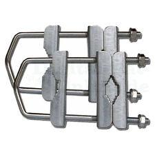 ► 2x Universal Mastdoppelschelle Doppelschelle Mastschelle bis 60mm verzinkt TÜV