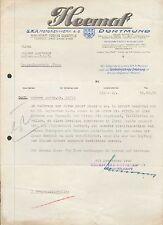 DORTMUND, Brief 1939, Heemaf S.K.A. Motorenwerk A.-G.