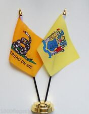 Gadsden & New Jersey Double Friendship Table Flag Set