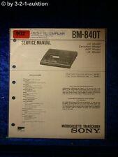 Sony Service Manual BM 840T (#0902)