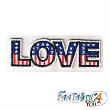 LOVE LETTERS USA AMERICAN FLAG RETRO HIPPIE APPLIQUE EMBROIDERED IRON ON PATCH
