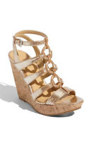 Enzo Angiolini 'Collar' Sandal SOFT LEATHER WEDGE SIZE 10 NEW