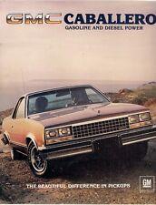 GMC Caballero Pick Up 1983 USA Market Foldout Brochure Standard Diablo Amarillo