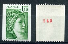 STAMP / TIMBRE DE FRANCE NEUF N° 2062a ** NUMERO ROUGE ROULETTE TYPE SABINE