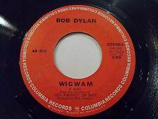 Bob Dylan Wigwam / Copper Kettle 45 1970 Columbia Vinyl Record