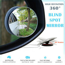 2PCS 360° Wide Angle Convex Car Blind Spot Rotatable Round Rear View Mirror