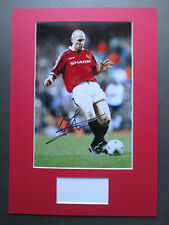 MANCHESTER UNITED JAAP STAM GENUINE SIGNED A3 MOUNTED PHOTO DISPLAY - AFTAL COA